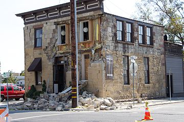 2014 South Napa quake - Stones Fallen From Face of Sam Kee - 1 (15014707736).jpg
