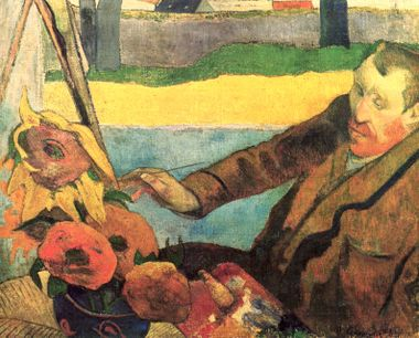 The Painter of Sunflowers (Portrait of Vincent van Gogh) by Paul Gaugin