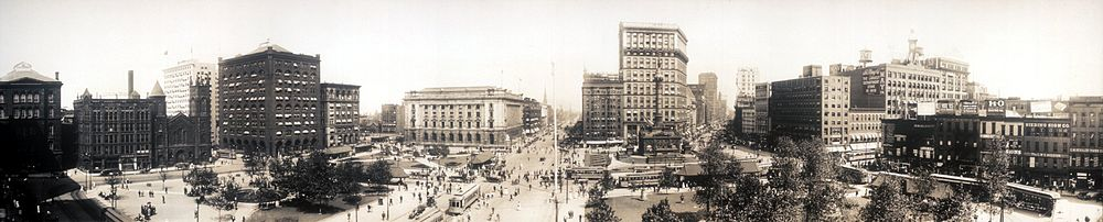 Panorama of Cleveland's Public Square in 1912